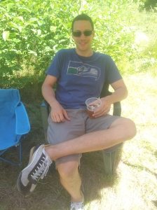 Joel relaxing in the shade