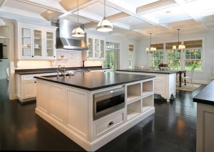 Double islands in the kitchen is great for prep & serving