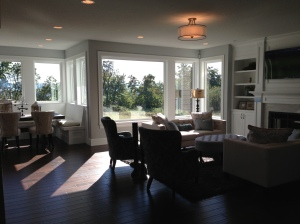 Open great room with a beautiful built-in