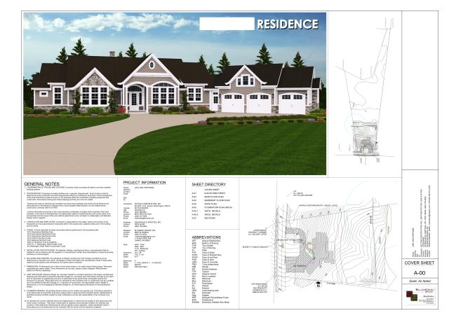 Final Design - Cover Page (site plan + rendering)
