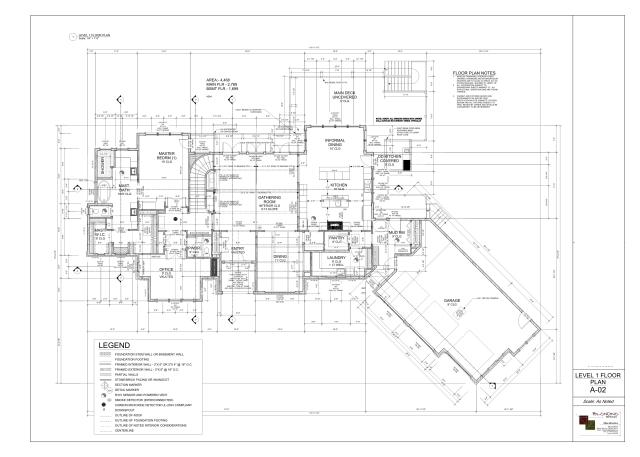 Final Design - Main Level Floorplan