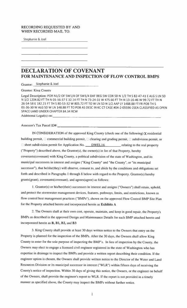 BMP Covenant Sheet 1