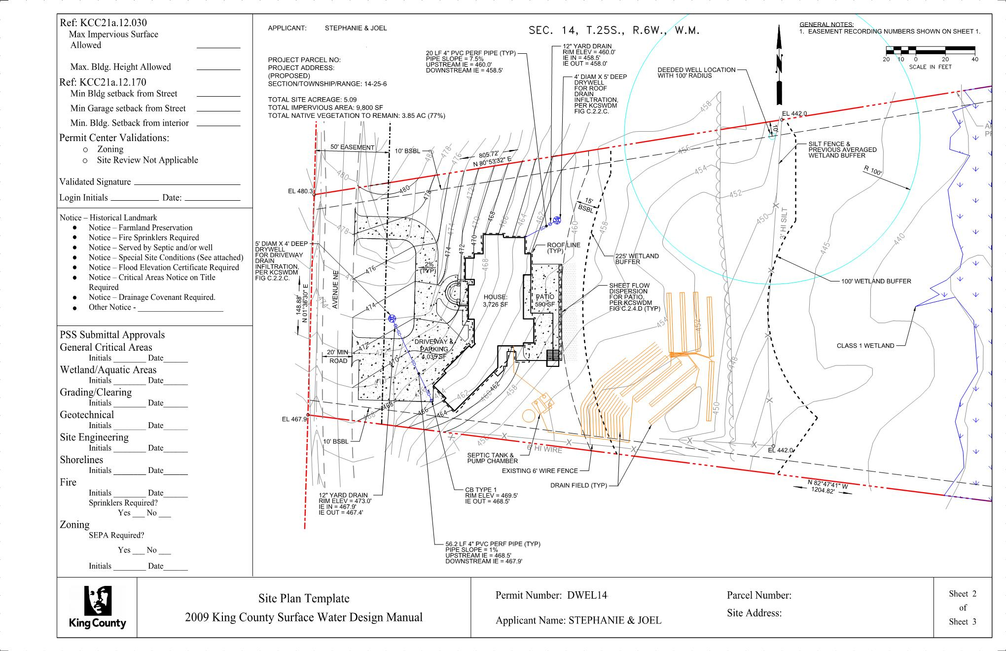 Building permit civil resubmittal 2 and approval for Building site plans