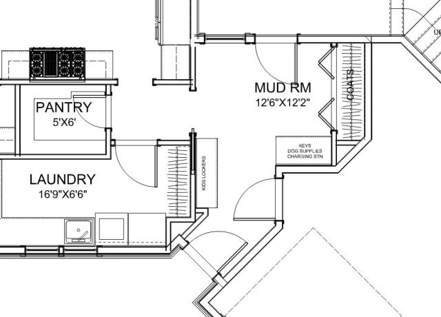 Original mudroom layout.