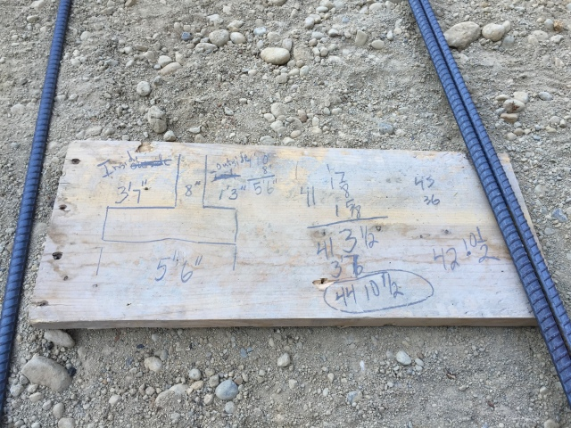 Just some quick math for the garage retaining wall's footing...they must have run out of graph paper ;)