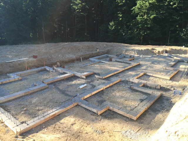 Here's the finished product Wednesday night...we have footings!
