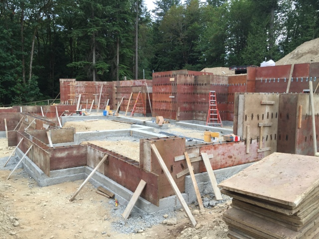 By the end of the day on Friday it's all formed and ready for the pour on Monday!
