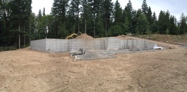 By the end of the week, here's what the progress looked like in panorama.