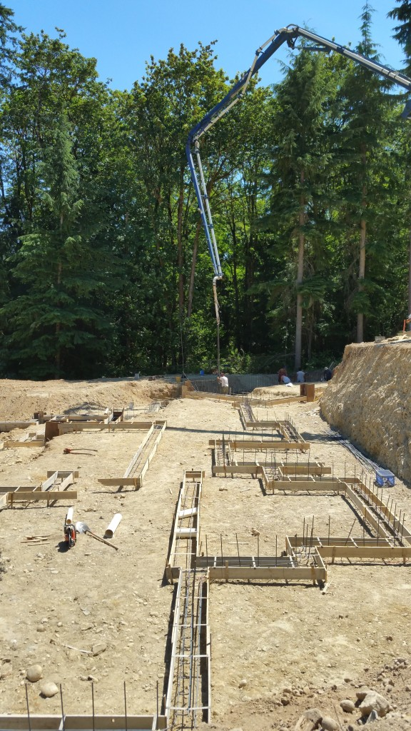 Another picture of the pump and our footings.