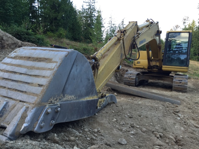 A good amount of site grading occurred this week.  A bit more heavy equipment was on site.