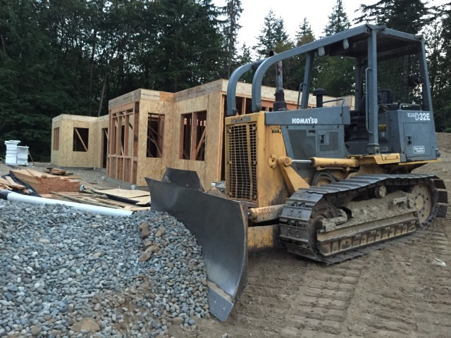 Here's a shot of the little bulldozer they used for some site grading this week.