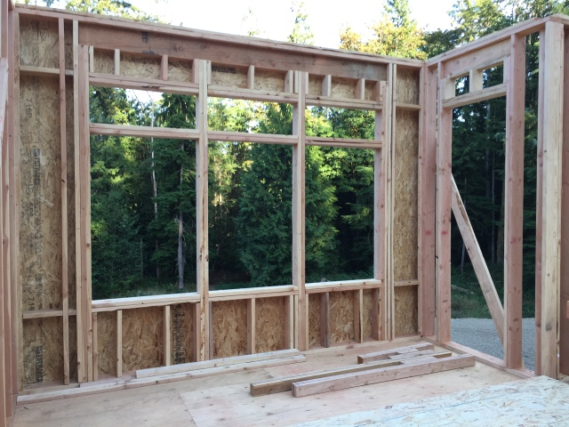 These are the windows and door to the deck in our master bath. We love the view!