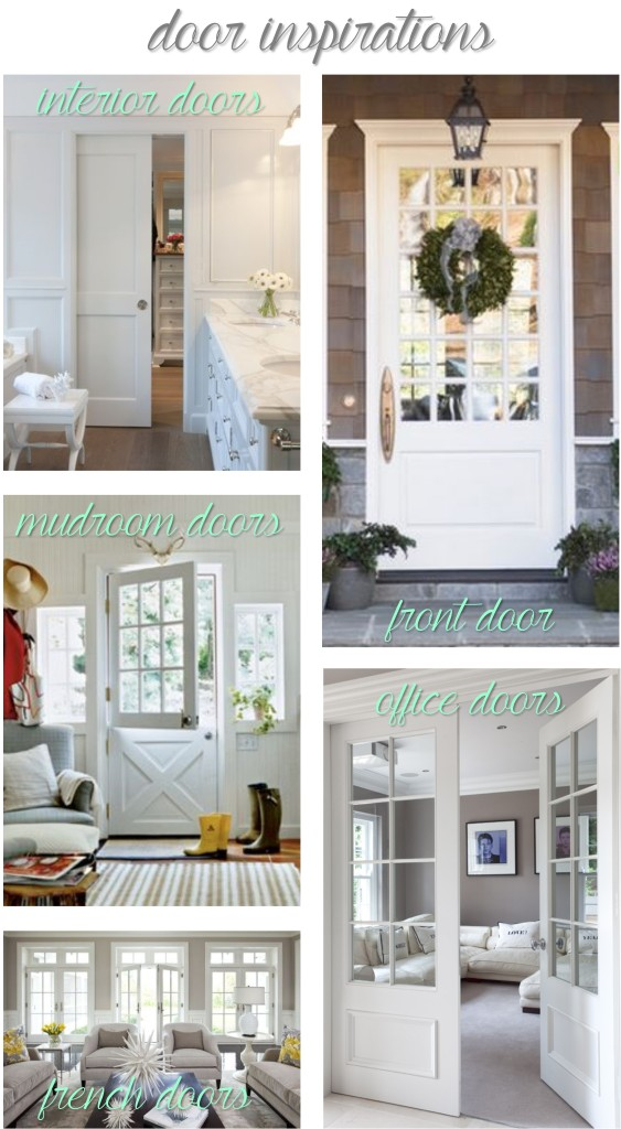 Here's a few of the inspiration pictures that I used when I ordered my doors.  Not exactly what I ordered, but pretty close!