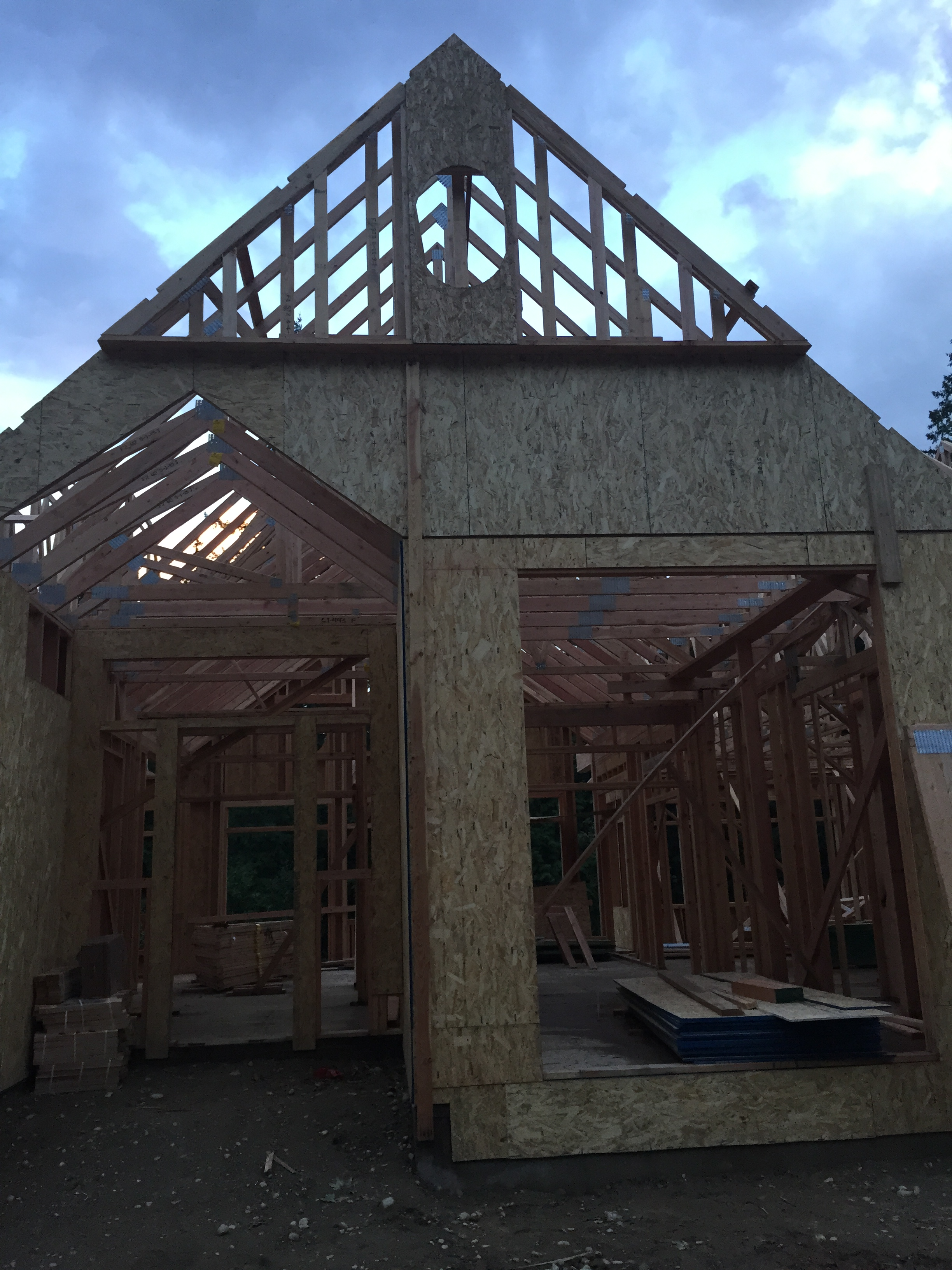 framing coastal hues page 2 the entry started to take shape this week the doorway and the big dining room