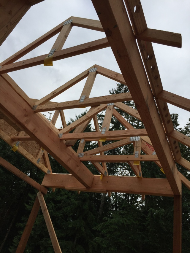 Here's the little trusses they used to frame the BBQ area.