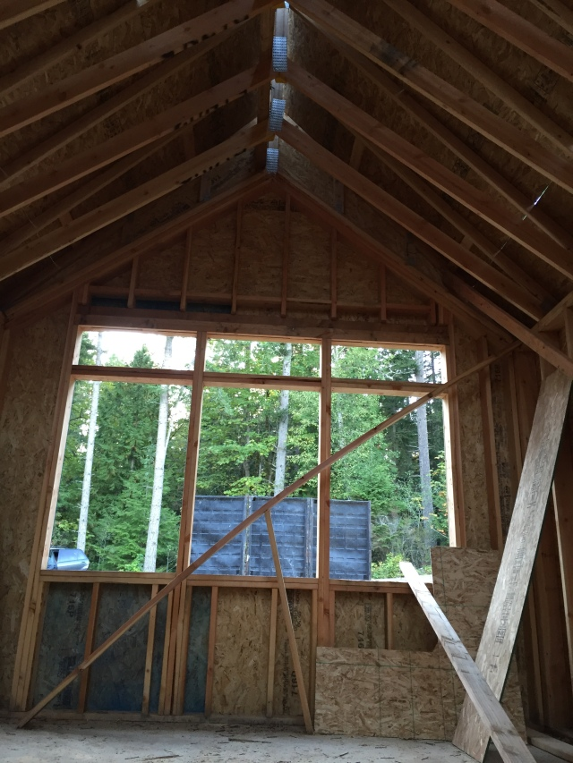 This will be our office, which will have a vaulted ceiling.