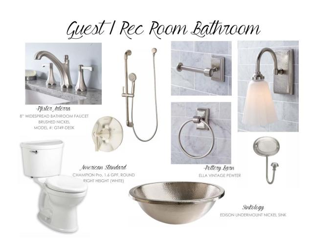 Guest / Rec Room Bathroom Ideas