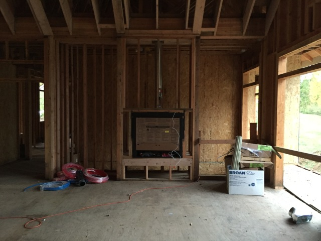 I loved seeing the fireplace installed this week...it looks awesome (even if it is all covered up still).