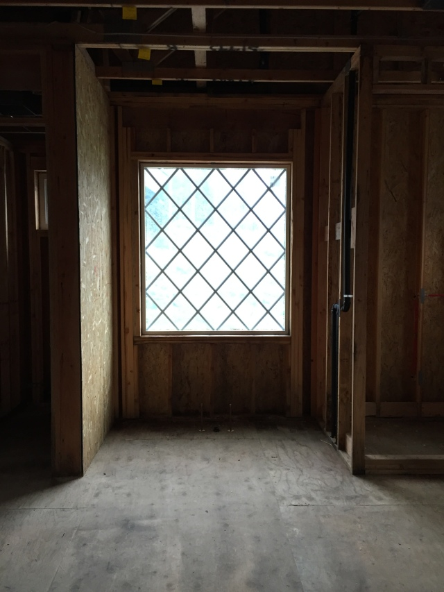 This is by far my FAVORITE window in the house - it'll be located above our antique clawfoot tub in the master bathroom.