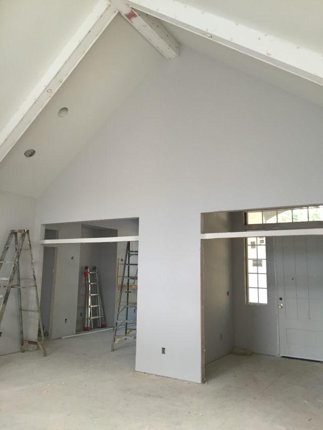 Here's a better representation of the colors in the room. The white beams look fantastic...and they're only primed!